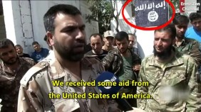 This May 2014 report by Jenan Moussa of Al-Aan News featured U.S.-backed and armed Syrian Revolutionaries Front (SRF) commander Jamal Maroof. McClatchy News later reported Maroof's SRF to be a recipient of TOW anti-tank missiles. Watch full news clip w/translation here.